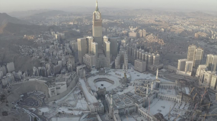 Ramadan under lockdown: Aerial images show Mecca completely empty-   NO COMMEMT