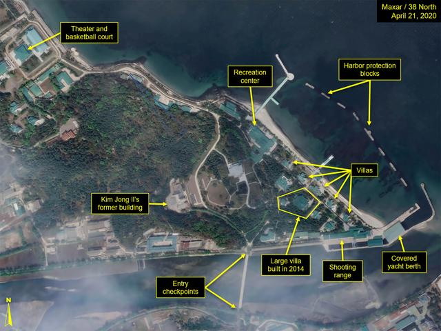 Satellite images of luxury boats further suggest North Korea
