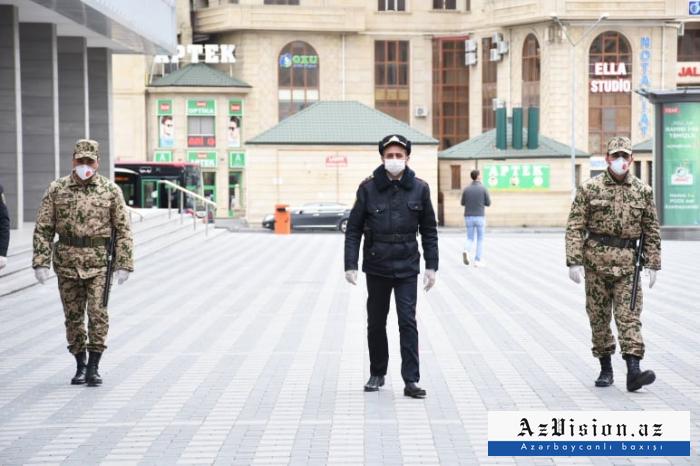 Baku police control special quarantine regime -  PHOTOS