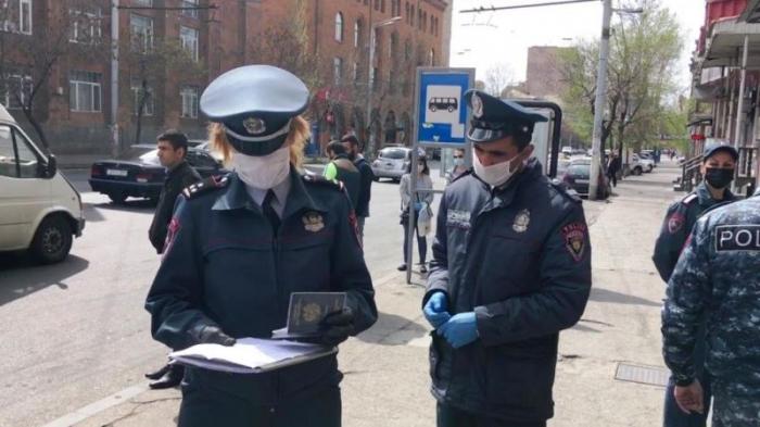Ermənistanda 6 polis koronavirusa youxdu