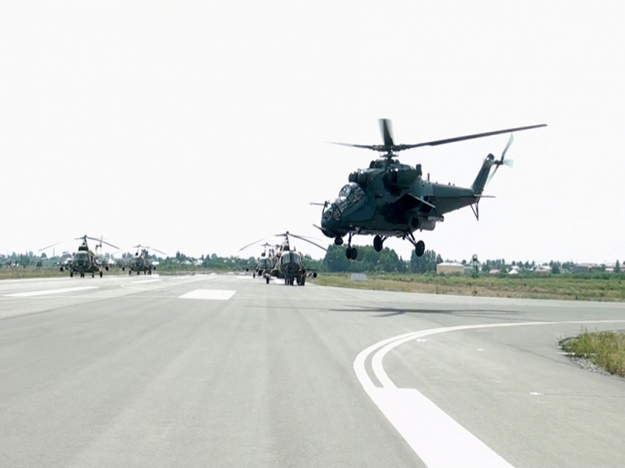 Air Force helicopter units conduct training flights -  VIDEO