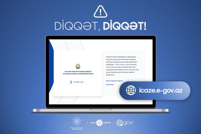 Dövlət Agentliyindən icaze.e-gov.az portalı ilə bağlı xəbərdarlıq