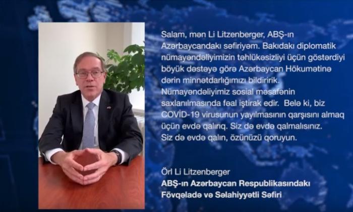 Diplomat və əcnəbi iş adamlarından #EVDƏQAL kampaniyasına dəstək - VİDEO