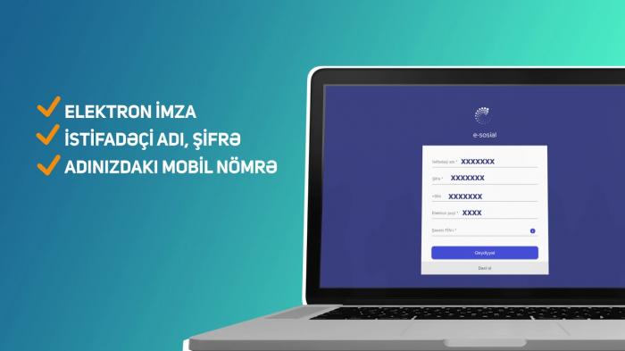 10 gündə e-sosial.az portalına