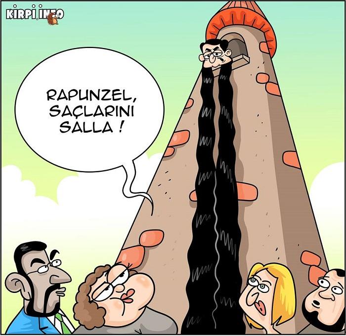 """Rapunzel """"blokada""""da - KARİKATURA"""