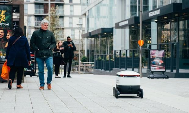 Robots deliver food in Milton Keynes under coronavirus lockdown