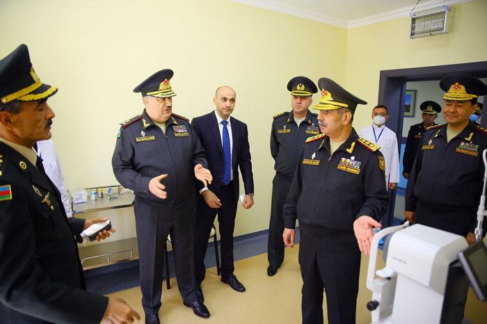 Müdafiə Naziri Baş Klinik Hospitalın yeni korpusunun açılışında -  VİDEO