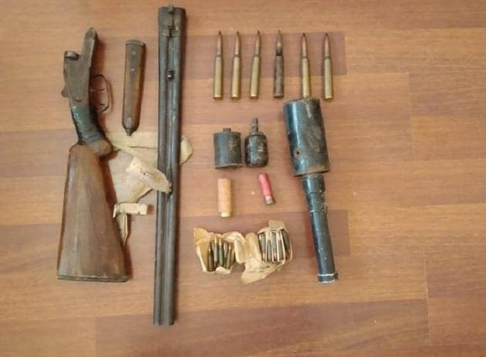 Hacıqabulda silah-sursat aşkar edildi