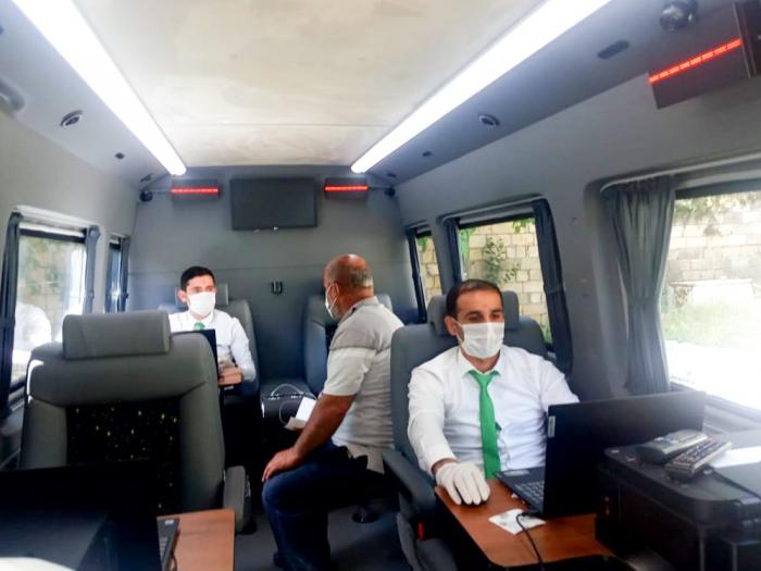 Nazirliyin səyyar mikroavtobusları Masallıda