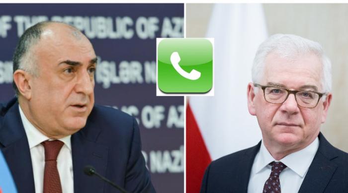 Məmmədyarov polşalı həmkarı ilə telefonla danışdı