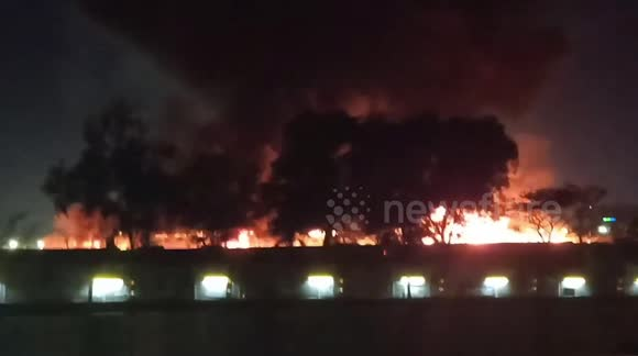 Plane carrying medical supplies crashes near airport and bursts into flames in Argentina