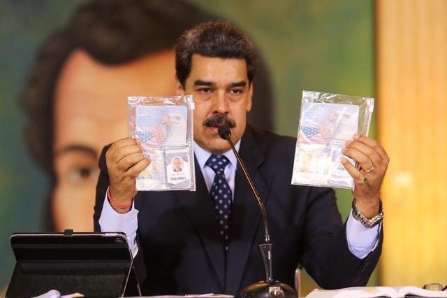 Detained American tells Venezuela state TV he plotted Maduro