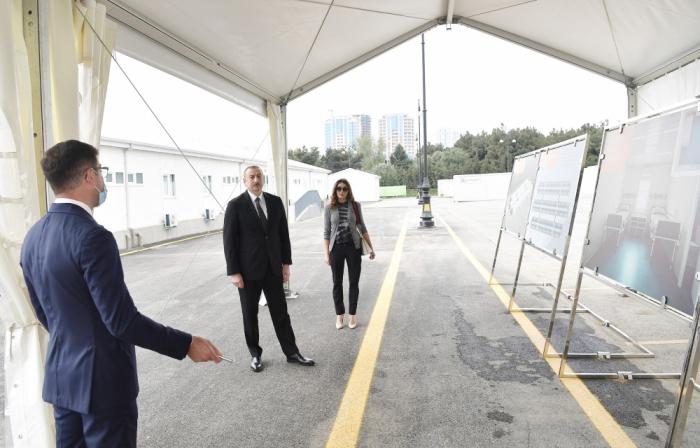 Prezident və birinci xanım modul tipli ilk xəstəxananın açılışında - FOTOLAR (YENİLƏNİB)