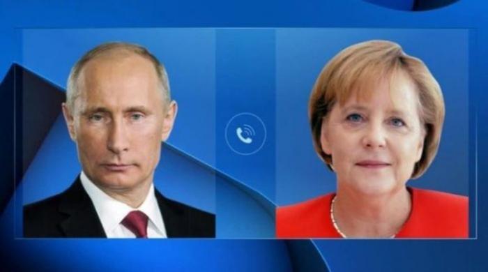 Putin və Merkel bir-birini təbrik etdi