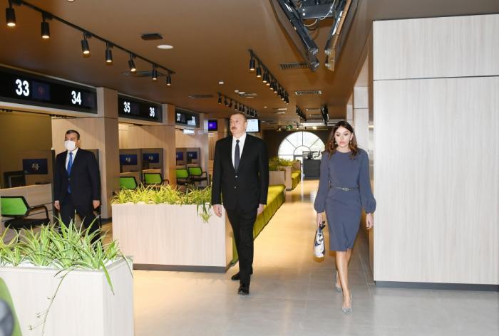 Prezident və birinci xanım 3 saylı DOST mərkəzinin açılışında - VİDEO+FOTOLAR