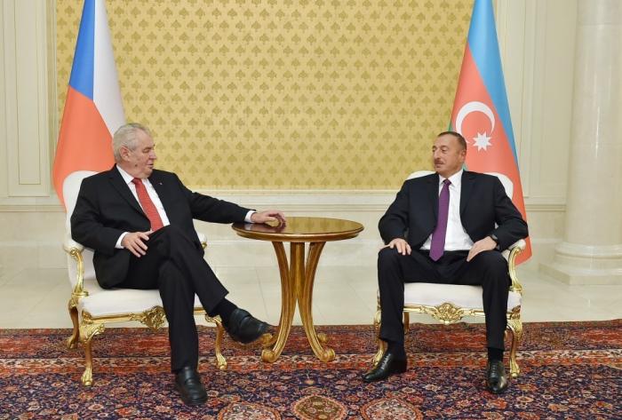 """""""Ich schätze die Beziehungen zu Aserbaidschan""""  , sagte Milos Zeman"""