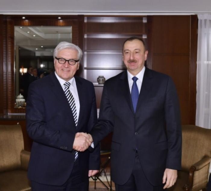 Steinmeier felicita a Ilham Aliyev