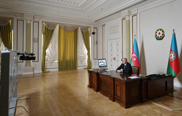 لقاء عبر الاتصال المرئي مع الرئيس إلهام علييف بمبادرة شركة سيغنيفاي