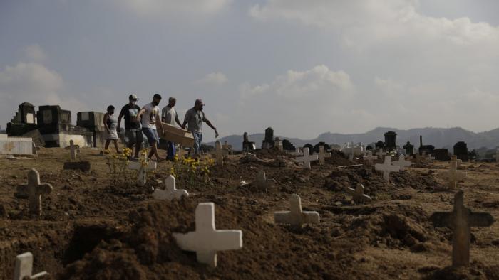 Brasil registra el día más letal de la pandemia del coronavirus con 1.188 decesos y ya suma 20.047 fallecidos