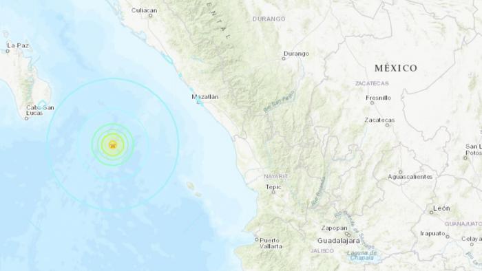 Un sismo de 6,1 se registra cerca de las costas de México
