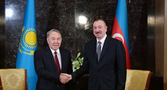 First Kazakh President Nazarbayev congratulates President Ilham Aliyev