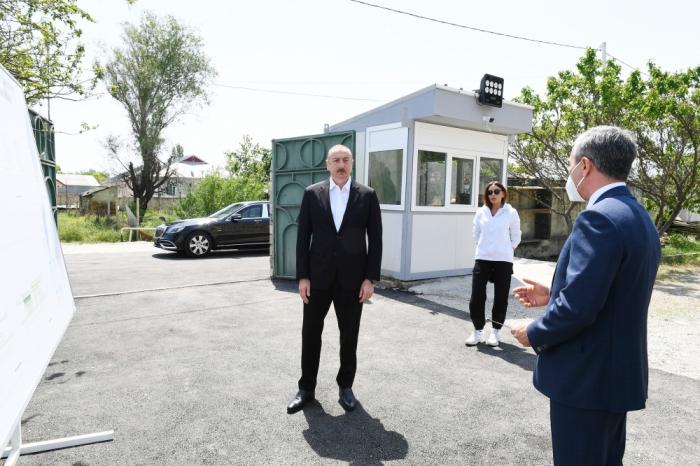 President Ilham Aliyev viewed work done as part of renovation of Pirsaat Baba shrine in Shamakhi - PHOTOS