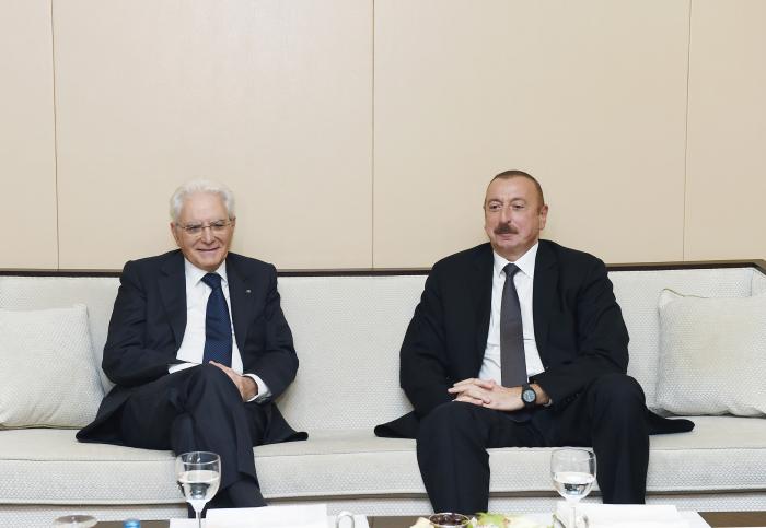 Le président italien a félicité Ilham Aliyev