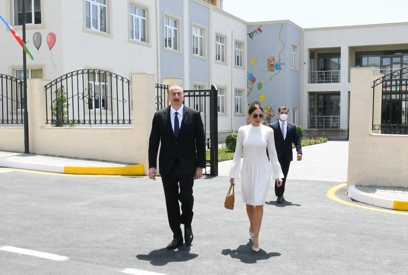 """Prezident və xanımı """"Qobu Park-3"""" kompleksinin açılışında -  VİDEO+FOTOLAR (YENİLƏNİB)"""