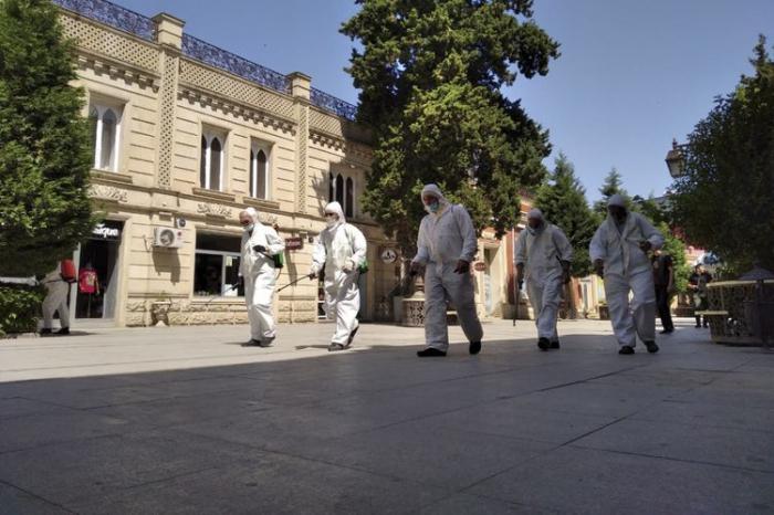 Gəncədə COVİD-19-a qarşı tədbirlər davam etdirilir
