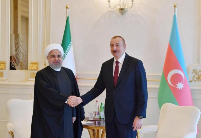 Hassan Rouhani schickt einen Brief an Ilham Aliyev
