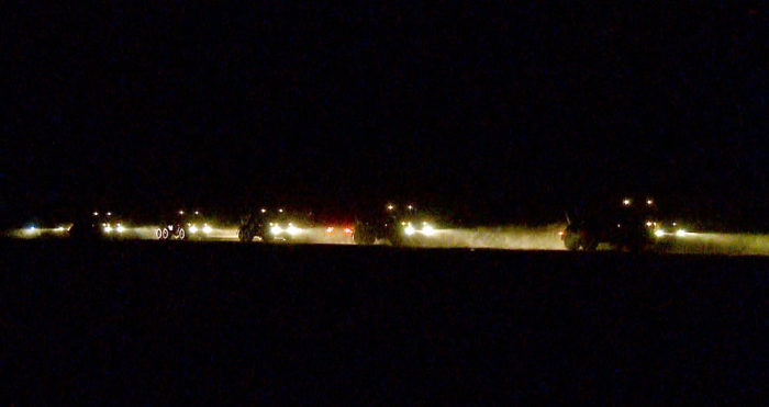 Təlimlərdə qoşunların gecə vaxtı yerdəyişməsi keçirilib - VİDEO