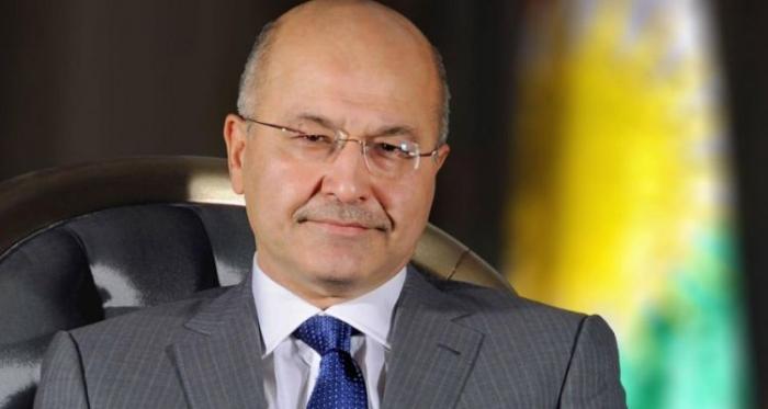 الرئيس العراقي يهنئ الهام علييف