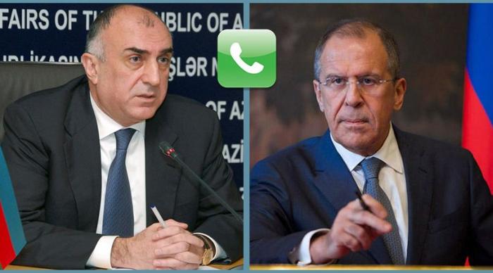 Məmmədyarovla Lavrov arasında telefon danışığı olub
