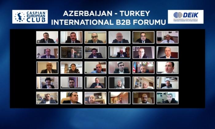 """Se celebra el tercer foro internacional en línea Azerbaiyán-Turquía """"B2B"""""""