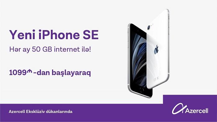 """Hədiyyəli yeni iPhone SE modelləri """"Azercell Eksklüziv""""lərdə"""