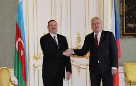 Milos Zeman congratulates Azerbaijani President