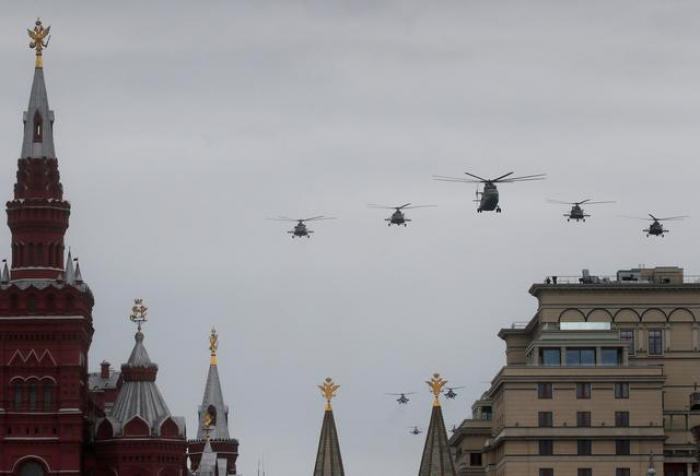 Putin presides over slimmed down Victory Day as coronavirus cases rise