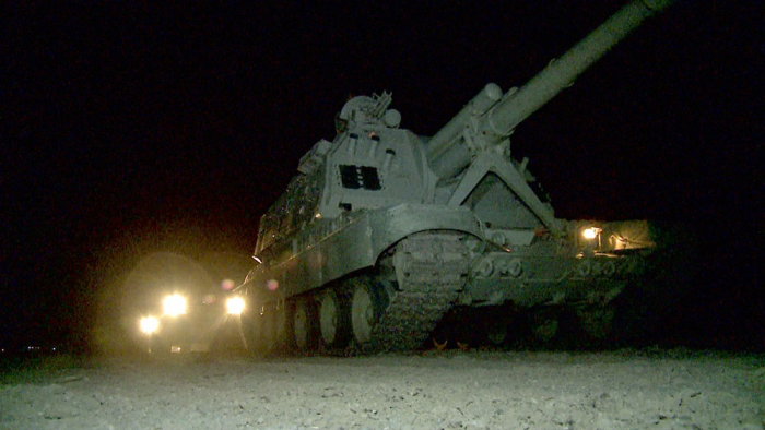 During the exercises, troops fulfilled tasks at nighttime -   VIDEO