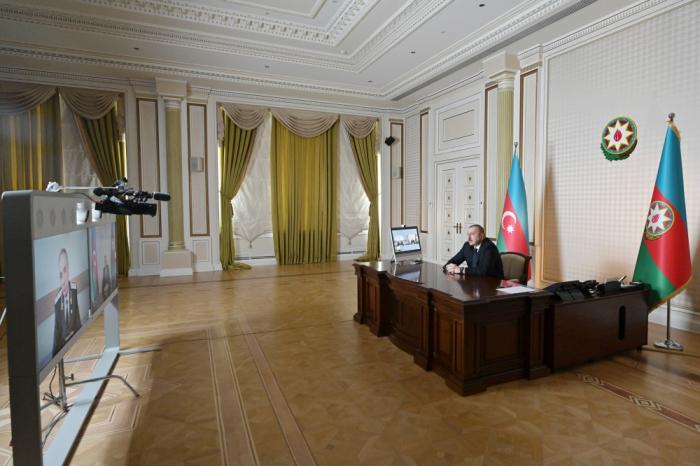 President Ilham Aliyev received Prosecutor General Kamran Aliyev in videoconference format