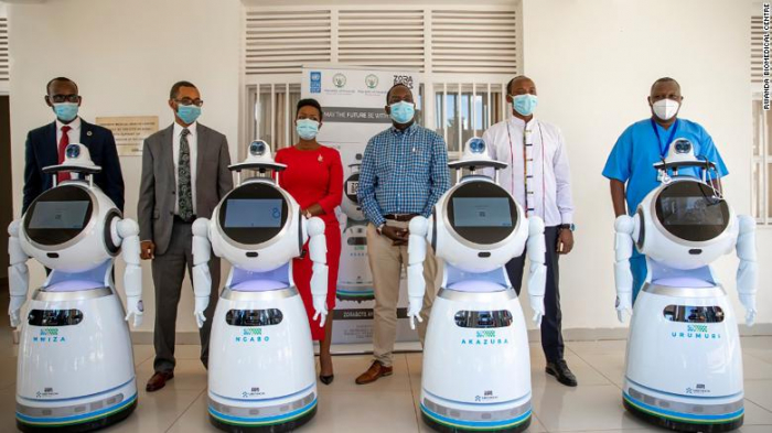 Rwanda has enlisted anti-epidemic robots in its fight against coronavirus