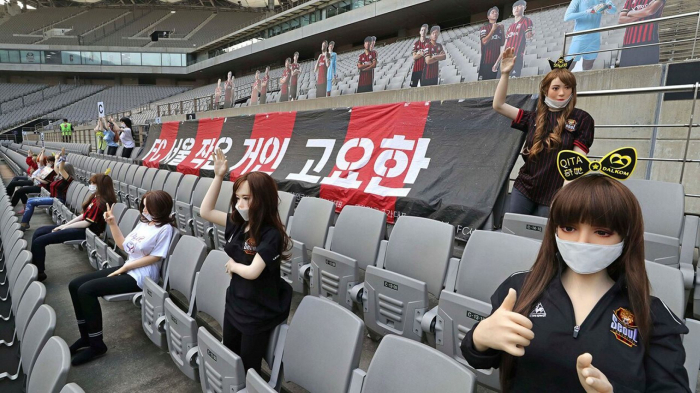 South Korean soccer club receives record fine for using sex dolls as spectators in stands