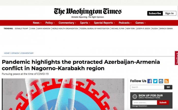 Die Washington Times schreibt über Reformen in Aserbaidschan und Karabach