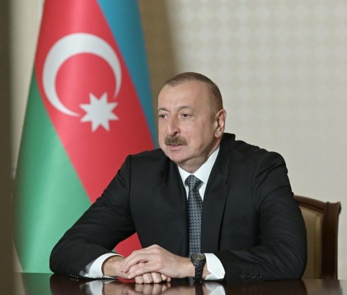 Zwischen dem Präsident İlham Aliyev und dem Management der Bank fand eine Videokonferenz statt