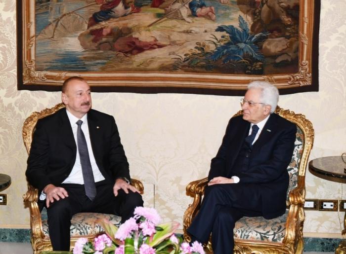 Ilham Aliyev envía carta a su homólogo italiano