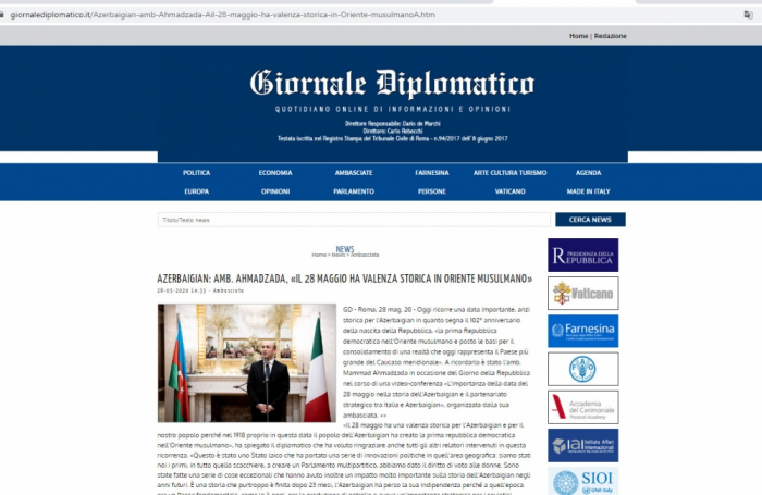 Tag der Republik im Rampenlicht der italienischen Presse