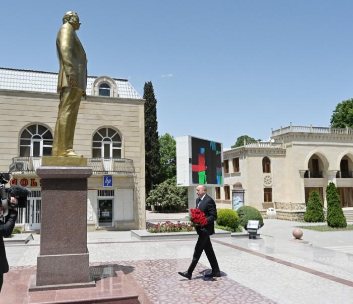Präsident Ilham Aliyev kommt zu Besuch nach Tartar
