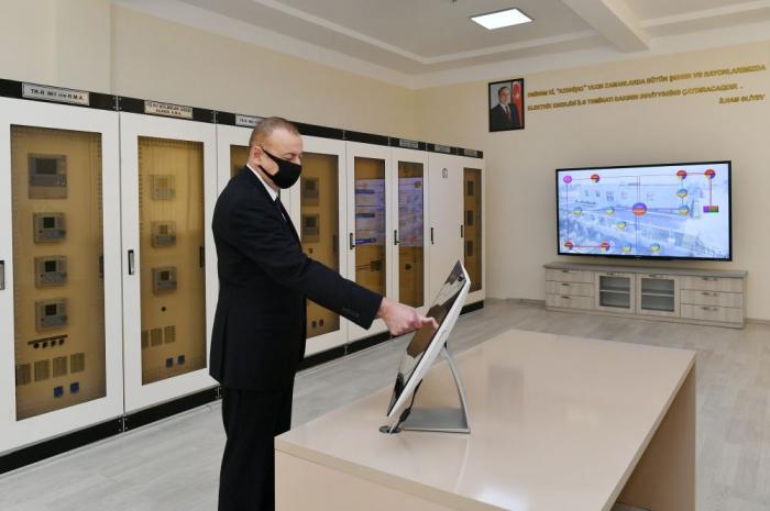 Präsident Ilham Aliyev nimmt an mehreren Eröffnungen in Tartar teil