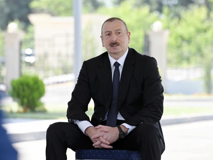 Prezident Tərtərdə idmançılarla görüşdü -  FOTOLAR (YENİLƏNİB)