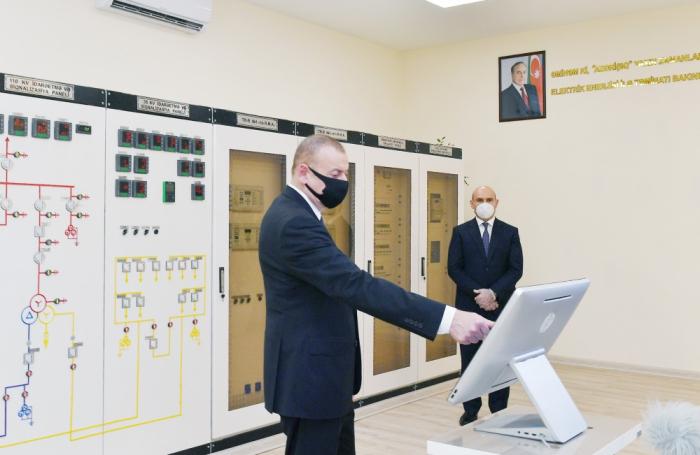 """""""Ağcabədi-2"""" elektrik yarımstansiyası istifadəyə verildi -  YENİLƏNİB"""