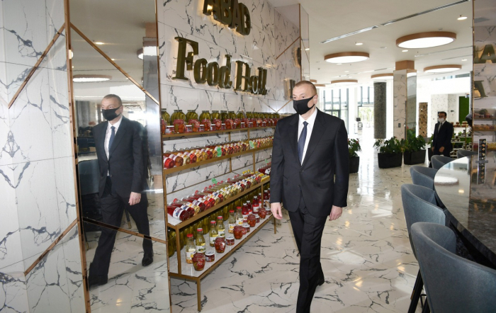 """President Aliyev attends opening of """"ABAD Food Hall"""" in Agjabadi - PHOTOS"""